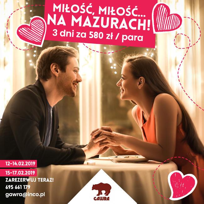 Walentynki na Mazurach - Ośrodek GAWRA