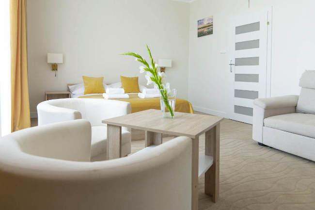 Ośrodek Gawra na Mazurach - pokoje Komfort i Premium
